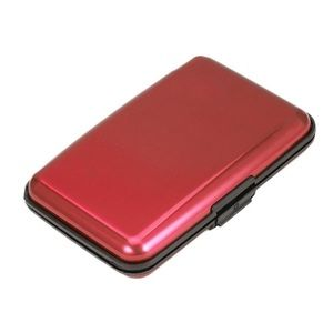Aluminum card case protection wallet red